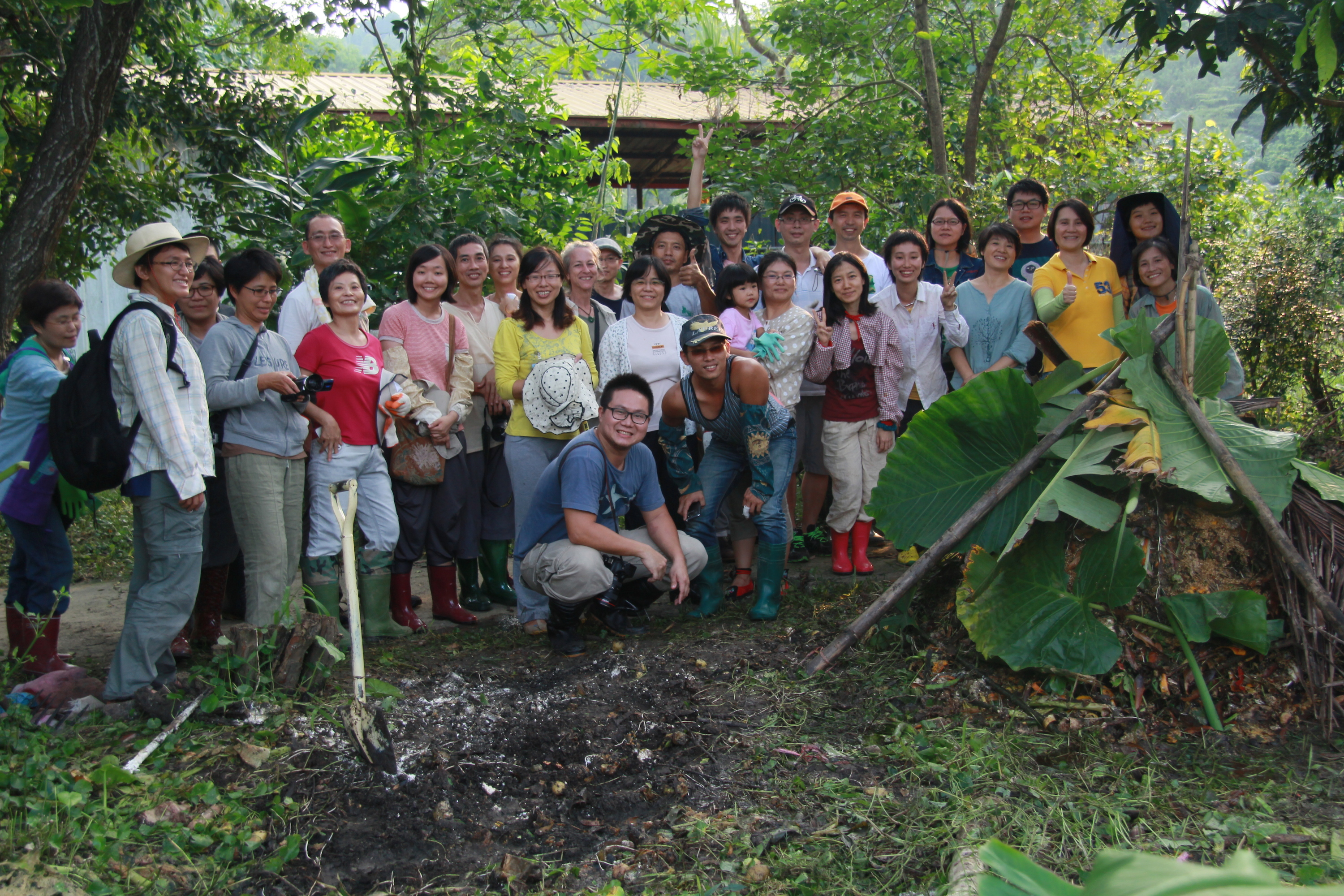 Permaculture Design Course participants